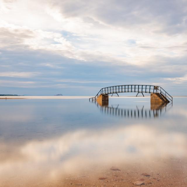 """Bridge to nowhere"" stock image"