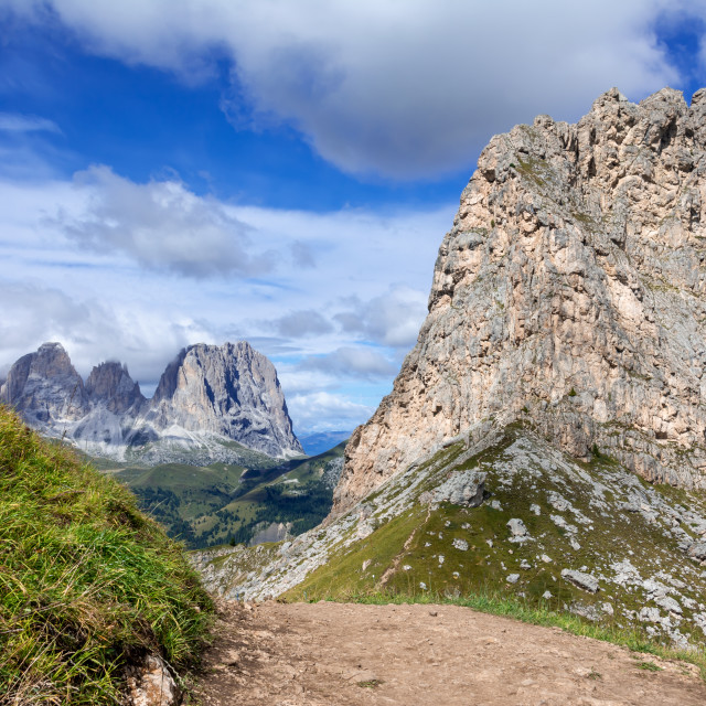 """""""dolomite mountain range in northern italy"""" stock image"""