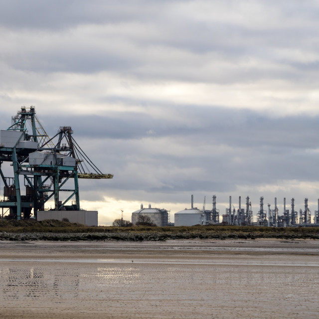"""""""Teesside Heavy Industry at Seal Sands, South Gare, Redcar"""" stock image"""