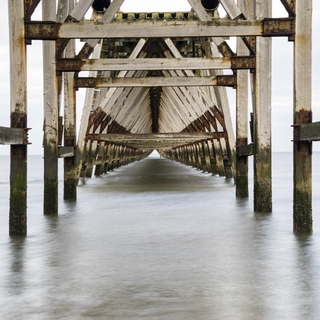 """""""The Disused Steetley Pier, Hartlepool, County Durham, UK."""" stock image"""