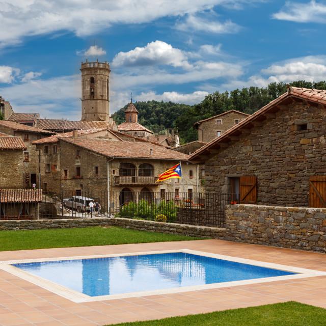 """Rupit village in Catalonia, Spain"" stock image"
