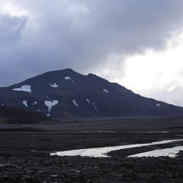 """""""Wild Lands of Western Central Iceland"""" stock image"""