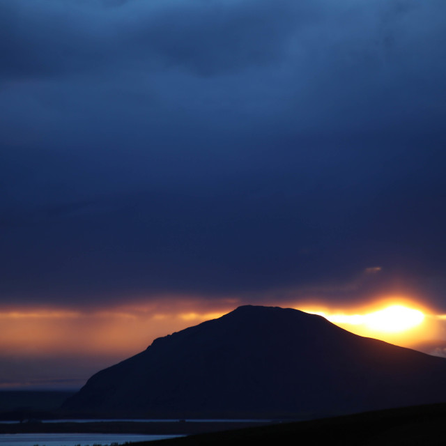 """""""Sunset over Lake Myvatn Iceland"""" stock image"""