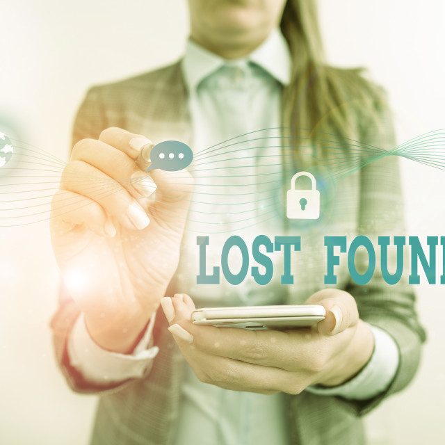 """Word writing text Lost Found. Business concept for Things that are left..."" stock image"