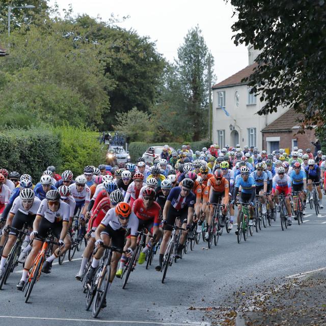 """UCI World Championship passing through Snaith"" stock image"