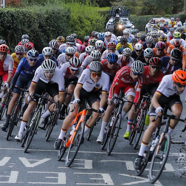 """""""UCI World Championship U23, Snaith"""" stock image"""