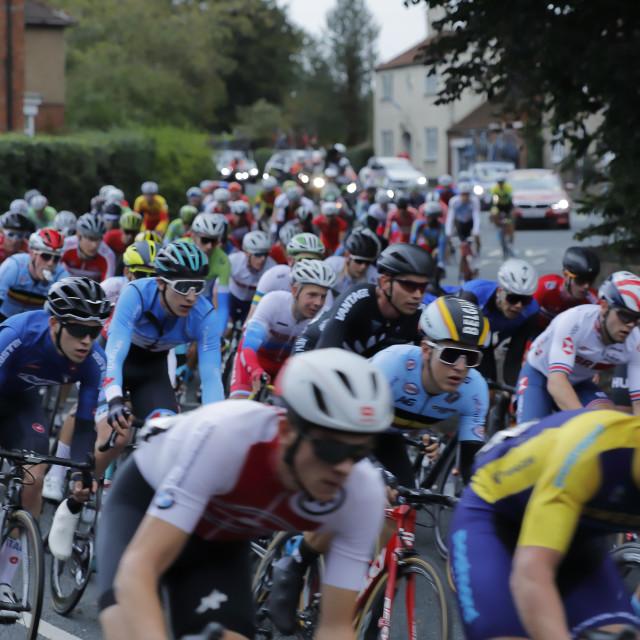 """The UCI World Championship mens U23, in Snaith"" stock image"
