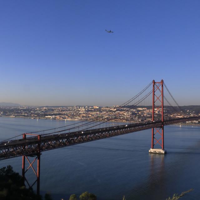 """""""Ponte 25 de Abril - Lisboa, Portugal"""" stock image"""