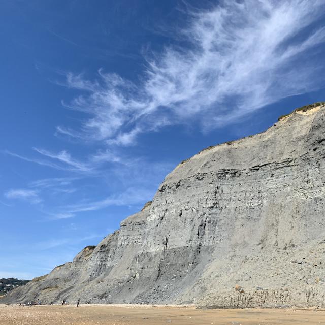 """Coastal cliffs"" stock image"