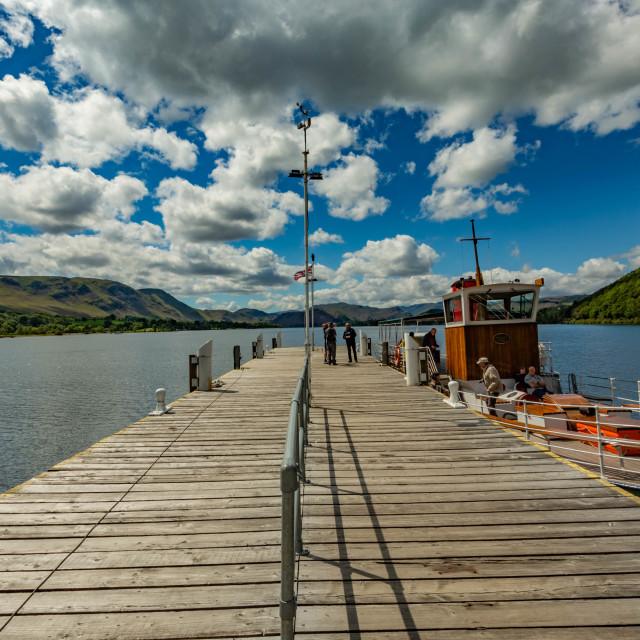 """Waterfoot Pier"" stock image"