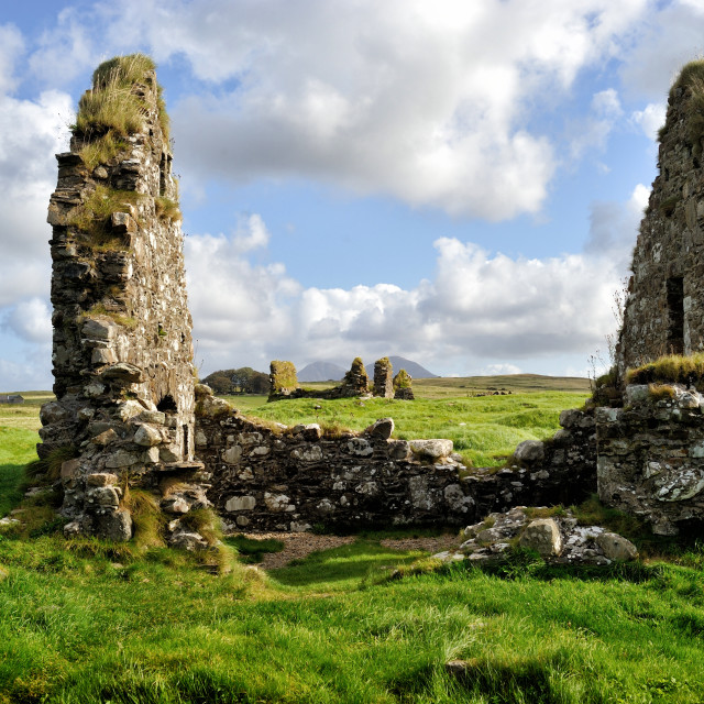 """Finlaggan: the seat of the Lords of the Isles and of Clan Donald - Islay"" stock image"