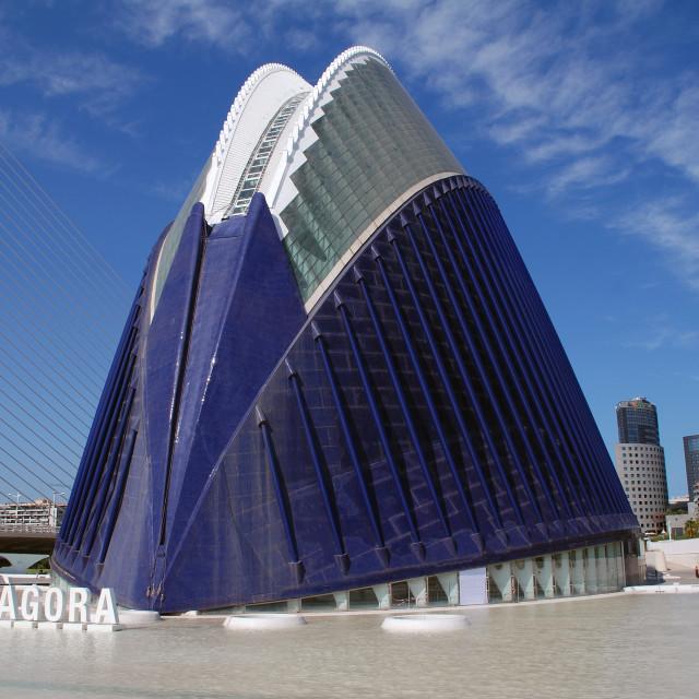 """""""The Agora, Valencia"""" stock image"""