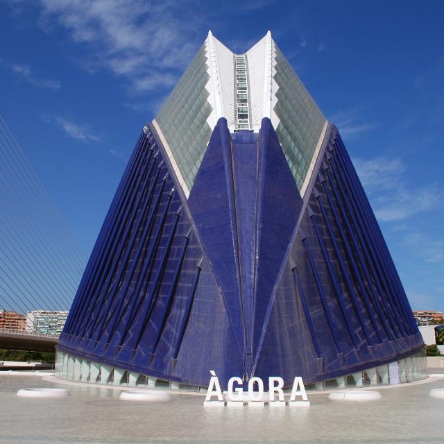 """""""The Agora building, Valencia"""" stock image"""