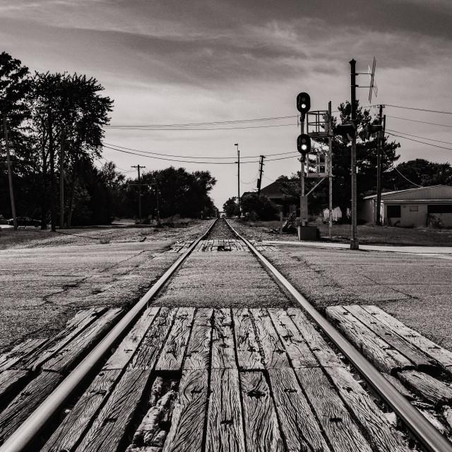 """Rail Crossing"" stock image"