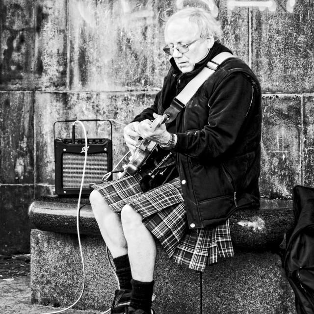 """Street musician"" stock image"