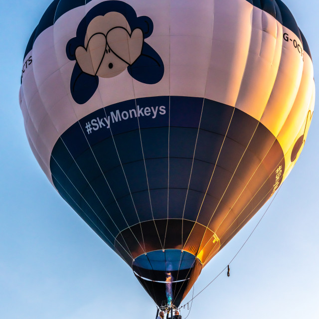 """Early morning balloon ascent"" stock image"