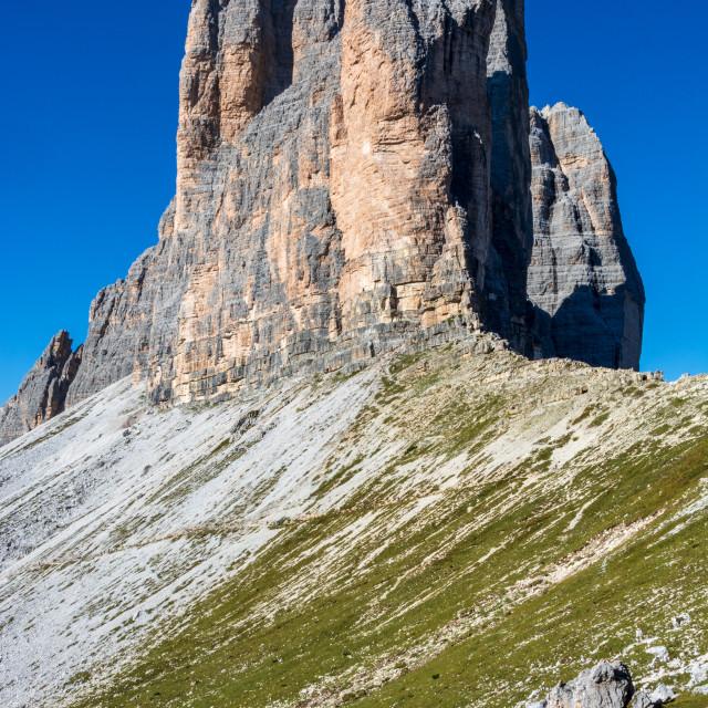 """drei zinnen mountains in south tirol"" stock image"