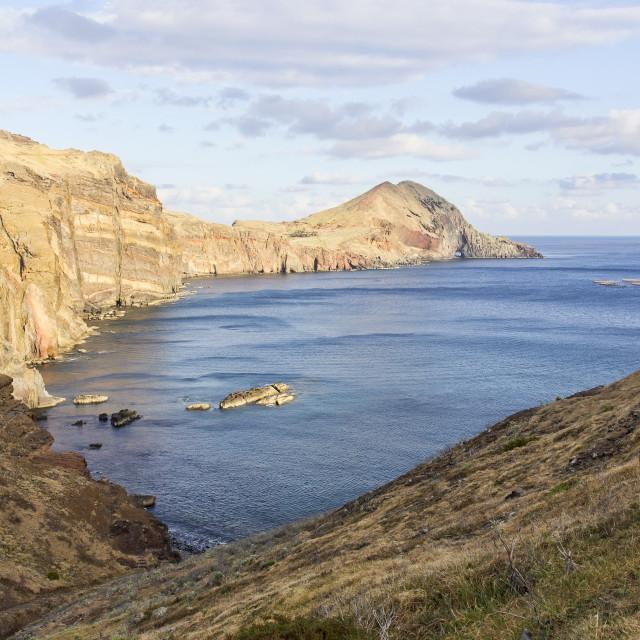 """""""Landscape at Cape Ponta de Sao Lourenco on Madeira island, Portu"""" stock image"""