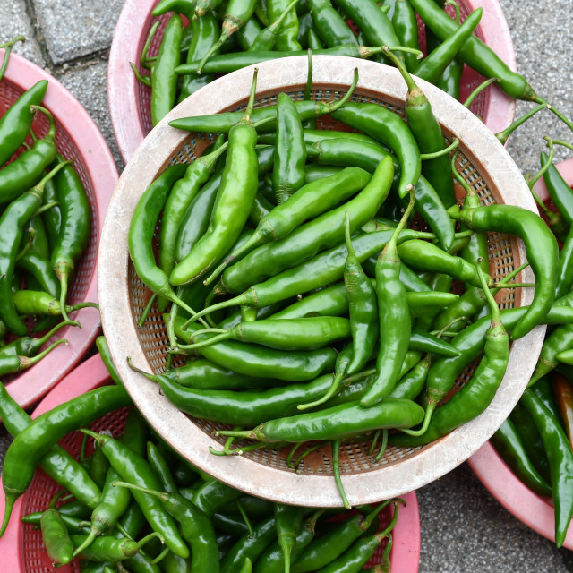 """Green Peppers"" stock image"
