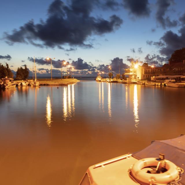 """Marina in Frombork"" stock image"