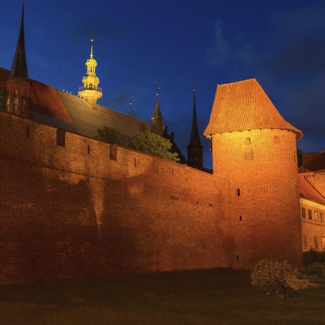 """Basilica in Frombork"" stock image"