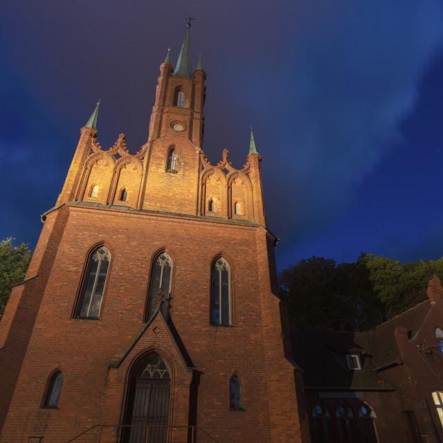 """Church of St. Wojciech in Frombork"" stock image"