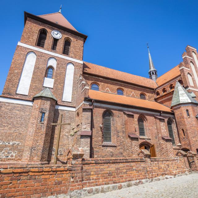 """""""St. Jacob Church in Tolkmicko"""" stock image"""