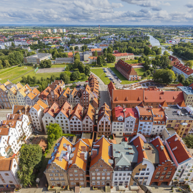 """""""Aerial view of Elblag"""" stock image"""