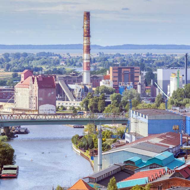 """Industrial area in Elblag"" stock image"