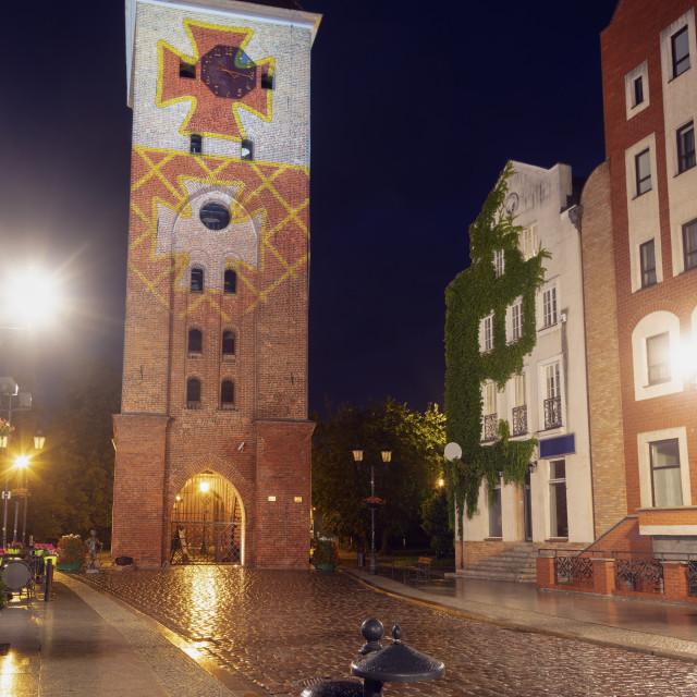 """Elblag Gate Tower"" stock image"
