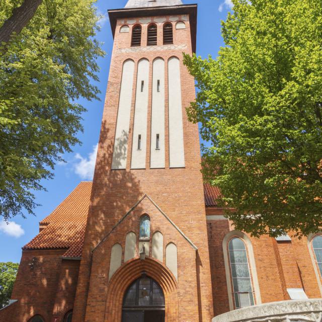 """""""Church in Ostroda"""" stock image"""