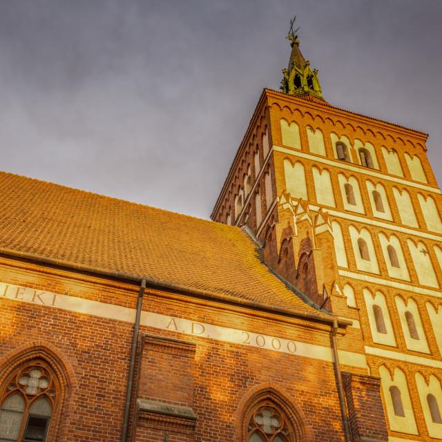 """St. Jacob Basilica in Olsztyn"" stock image"