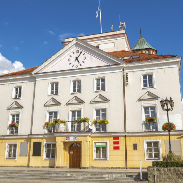 """""""City Hall in Pultusk"""" stock image"""