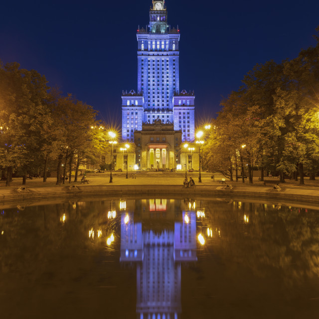 """""""Palace of Culture and Science in Warsaw"""" stock image"""