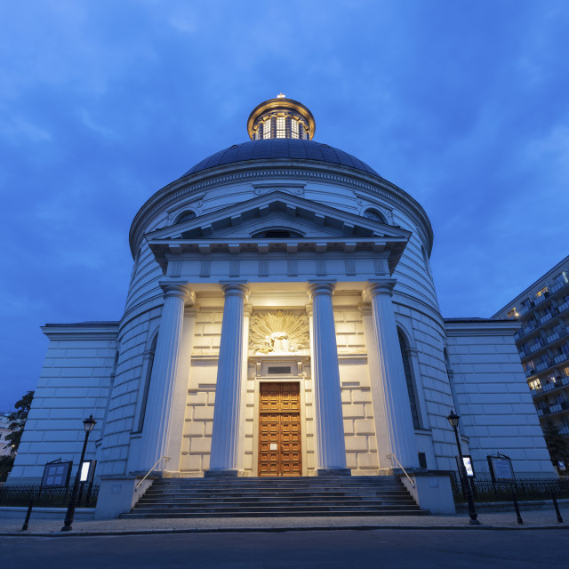 """""""Holy Trinity Church in Warsaw"""" stock image"""