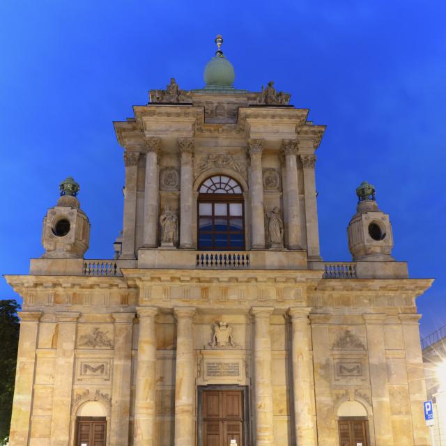 """""""Carmelite Church in Warsaw"""" stock image"""