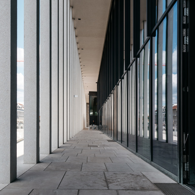 """Colonnade in James Simon Gallery in Berlin"" stock image"