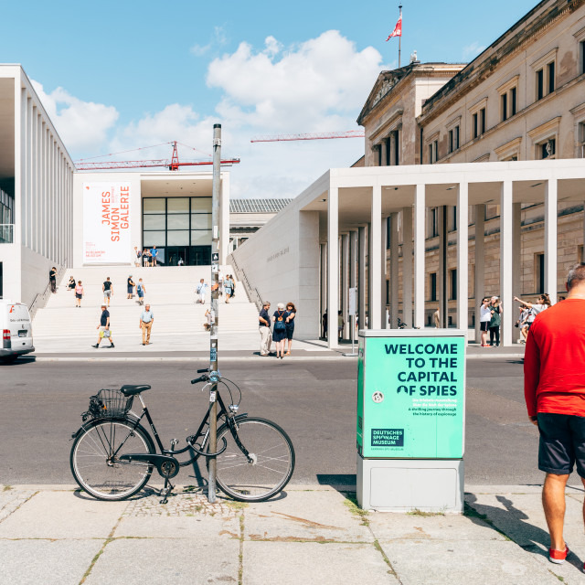 """Main entrance to James Simon Gallery in Berlin"" stock image"