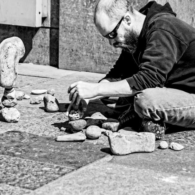 """Stone Balancing Art"" stock image"