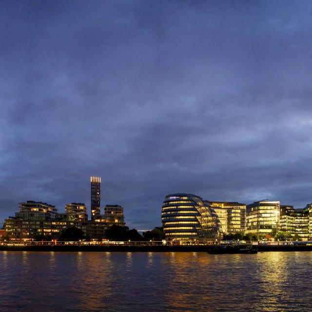 """Tower Bridge to the Shard"" stock image"