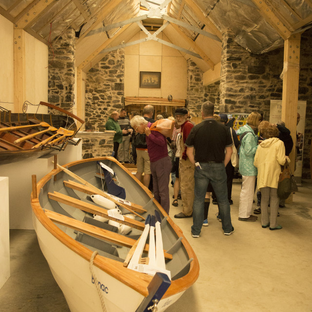 """""""In The Boatshed"""" stock image"""