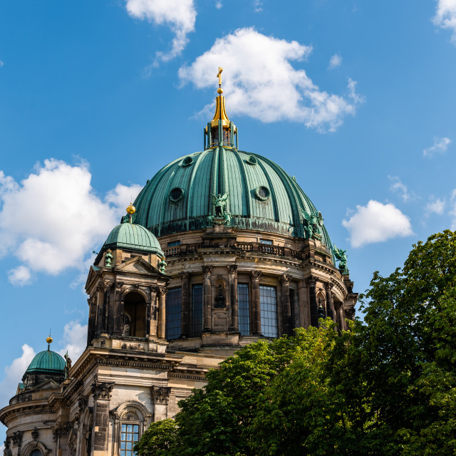 """The dome of Berlin Cathedral against sky"" stock image"