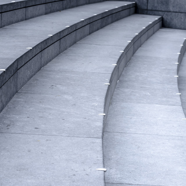 """Detail of steps at City Hall, London."" stock image"