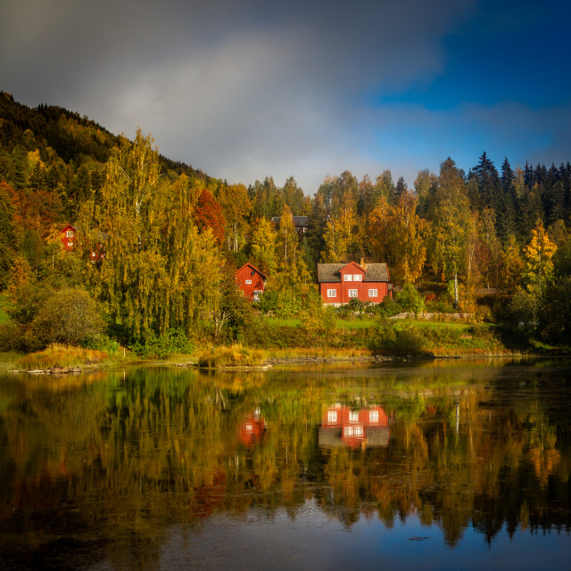 """Autumn in Lillehammer Norway"" stock image"