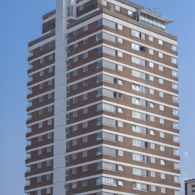 """Glastonbury House, Pimlico, London."" stock image"