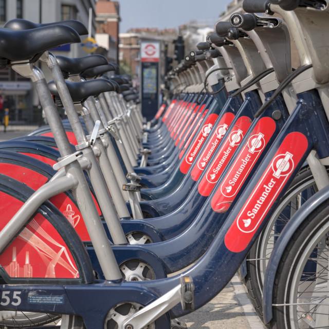 """Santander Transport for London Bikes"" stock image"