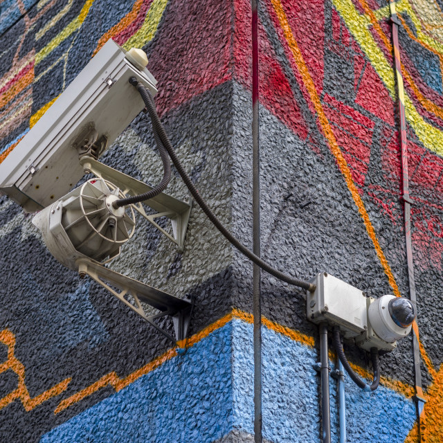 """Colourful surveillance."" stock image"