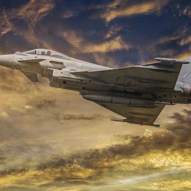 """RAF Typhoon"" stock image"