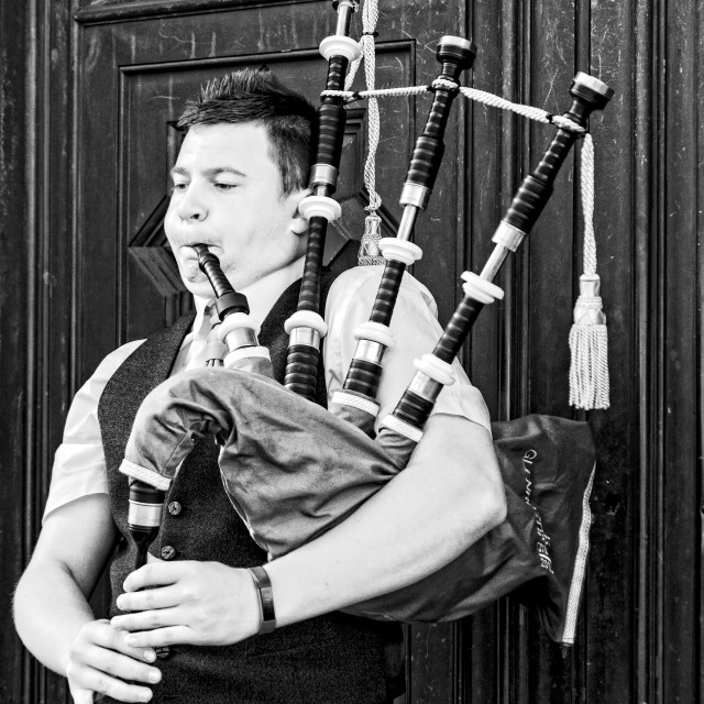 """Bagpipes – A Weapon of War!"" stock image"