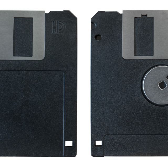 """""""Front And Back Floppy Disk"""" stock image"""